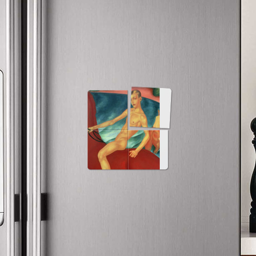 Магнитный плакат 2Х2  Фото 04, Купание красного коня
