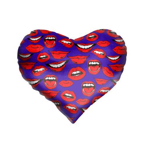 Подушка 3D сердце Губы