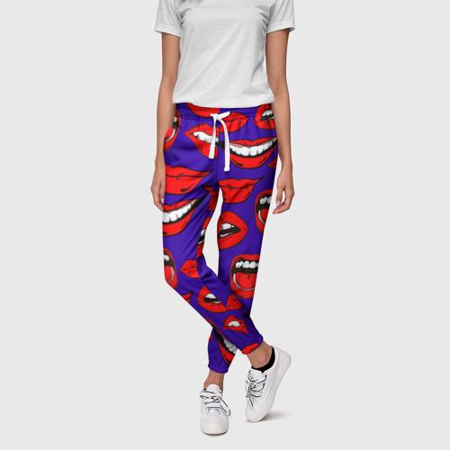Женские брюки 3D Губы