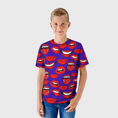 Детская футболка 3D Губы