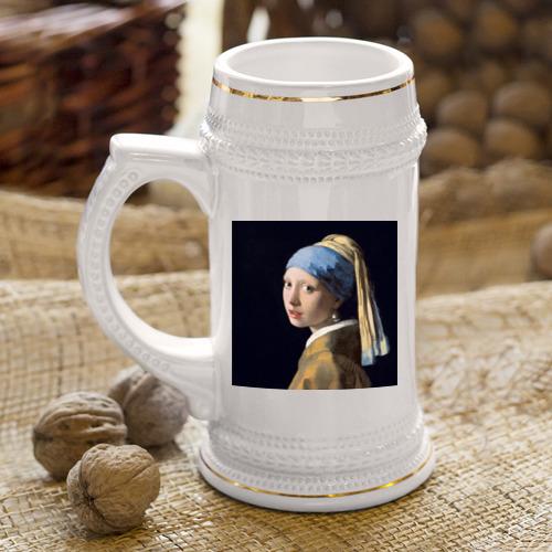 Кружка пивная  Фото 04, Девушка с жемчужной серёжкой
