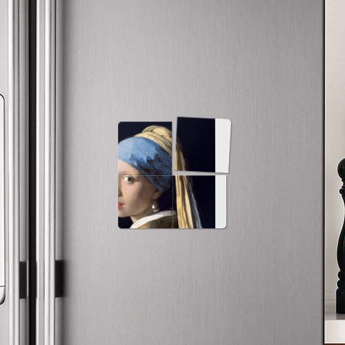 Магнитный плакат 2Х2  Фото 04, Девушка с жемчужной серёжкой