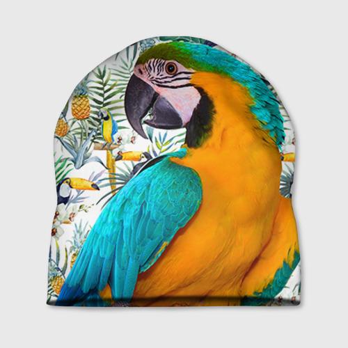 Шапка 3D Попугаи