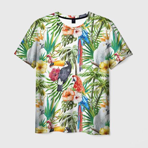 Мужская футболка 3D  Фото 01, Попугаи