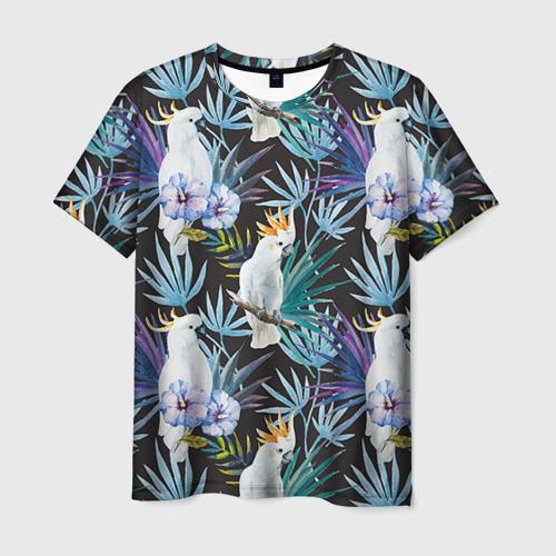 Мужская футболка 3D Попугаи
