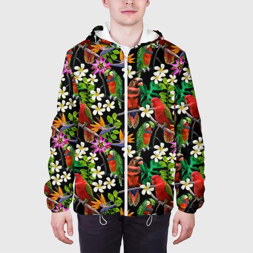 Мужская куртка 3D  Фото 04, Попугаи