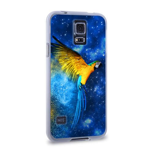 Чехол для Samsung Galaxy S5 силиконовый  Фото 02, Попугаи