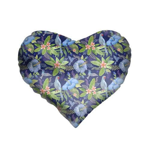 Подушка 3D сердце Попугаи