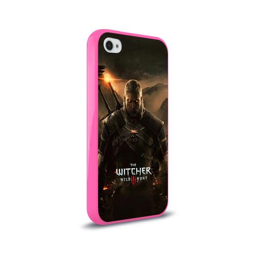 Чехол для Apple iPhone 4/4S силиконовый глянцевый Wild hunt Фото 01