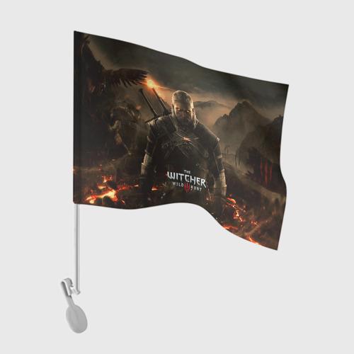 Флаг для автомобиля Wild hunt