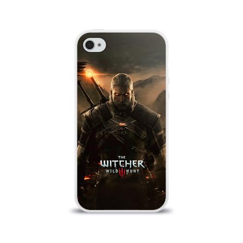 Чехол для Apple iPhone 4/4S силиконовый глянцевый Wild hunt