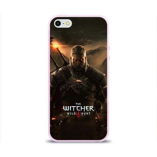 """Чехол силиконовый глянцевый для Apple iPhone 5S """"Wild hunt"""" - 1"""