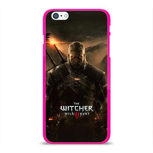 """Чехол силиконовый глянцевый для Apple iPhone 6 Plus """"Wild hunt"""" - 1"""