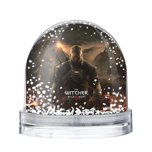 Водяной шар со снегом Wild hunt