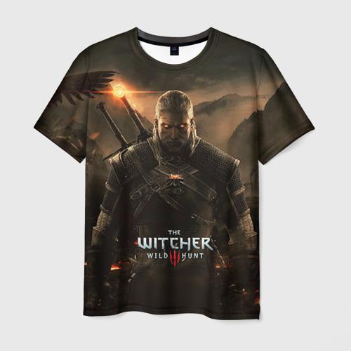 Мужская футболка 3D Wild hunt