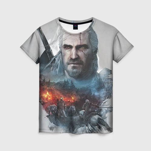 """Женская футболка 3D с полной запечаткой """"Witcher"""" - 1"""