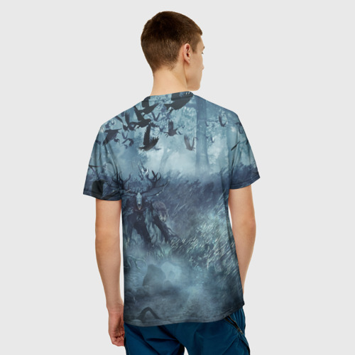 Мужская футболка 3D Амулет Ведьмака Фото 01