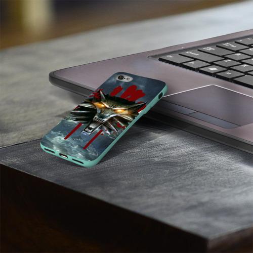 Чехол для Apple iPhone 8 силиконовый глянцевый Амулет Ведьмака Фото 01