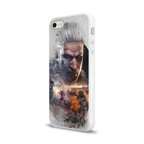 Чехол для Apple iPhone 5/5S силиконовый глянцевый Ведьмак Фото 01