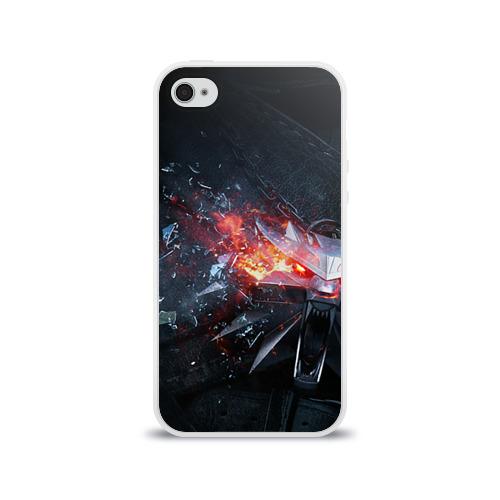 Чехол для Apple iPhone 4/4S силиконовый глянцевый Волк Фото 01