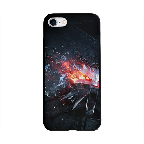 Чехол для Apple iPhone 8 силиконовый глянцевый Волк Фото 01