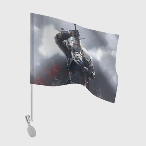 Флаг для автомобиля Геральт