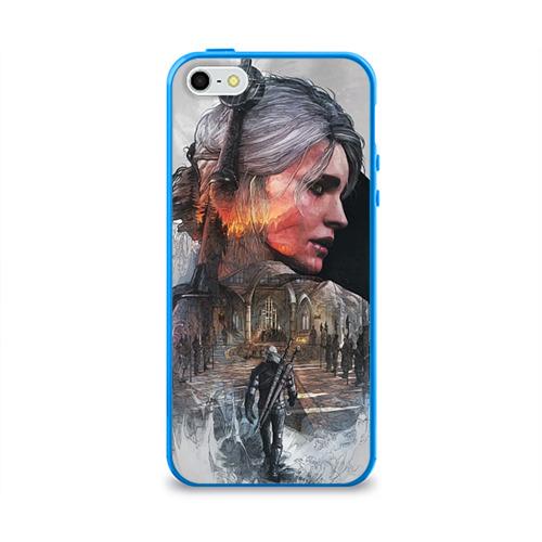 """Чехол силиконовый глянцевый для Apple iPhone 5S """"Девушки Ведьмака"""" - 1"""