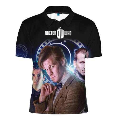 Мужская рубашка поло 3D Доктор кто