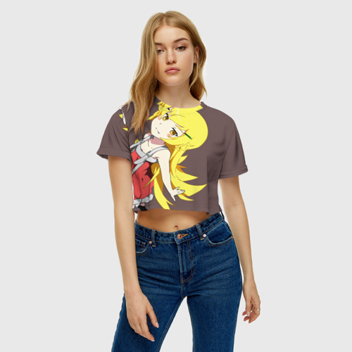 Женская футболка 3D укороченная  Фото 04, Shinobu