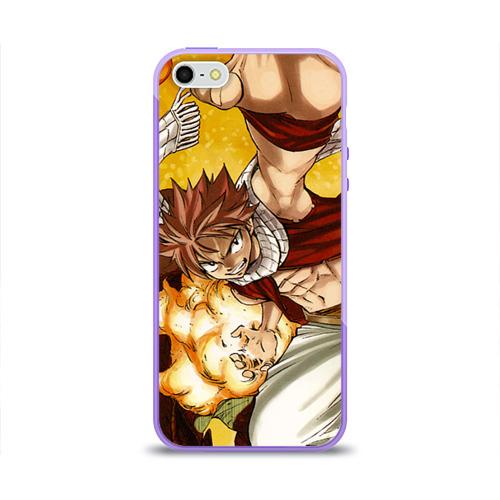 "Чехол силиконовый глянцевый для Apple iPhone 5S ""Фэйри Тэйл"" - 1"