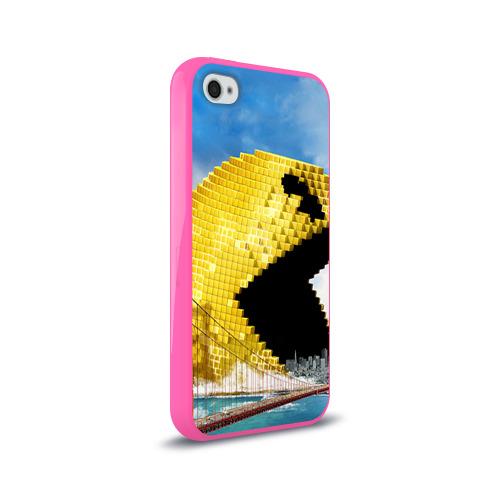 Чехол для Apple iPhone 4/4S силиконовый глянцевый  Фото 02, Пиксели