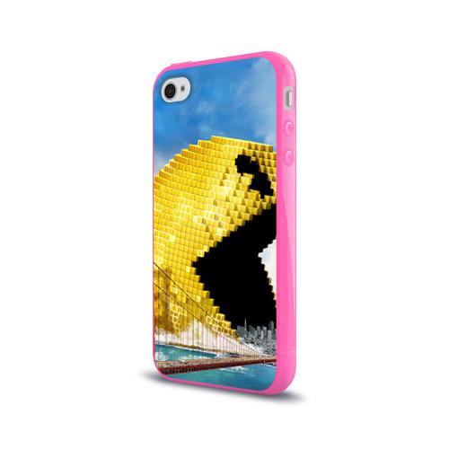 Чехол для Apple iPhone 4/4S силиконовый глянцевый  Фото 03, Пиксели