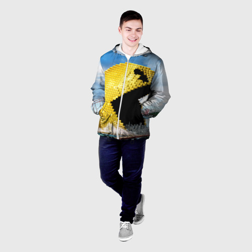 Мужская куртка 3D  Фото 03, Пиксели