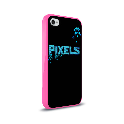 Чехол для Apple iPhone 4/4S силиконовый глянцевый  Фото 02, Pixels