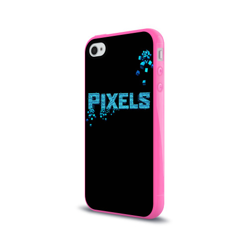 Чехол для Apple iPhone 4/4S силиконовый глянцевый  Фото 03, Pixels