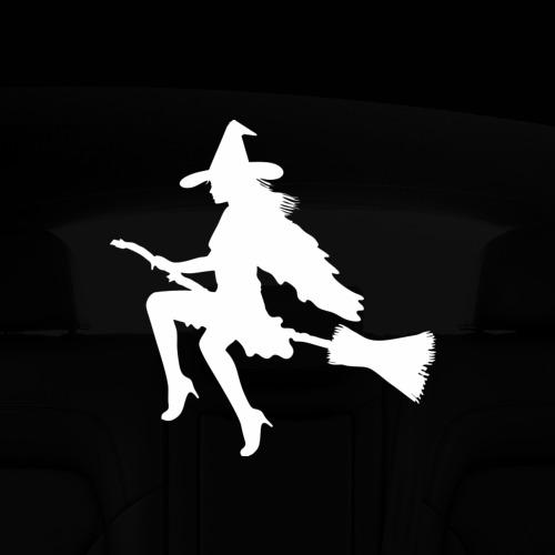 Наклейка на авто - для заднего стекла Ведьма Фото 01