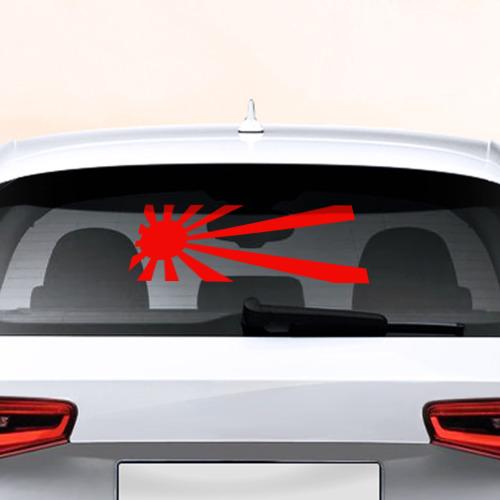 Наклейка на авто - для заднего стекла jdm солнце от Всемайки