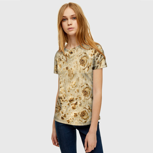 Женская футболка 3D Лаваш Фото 01