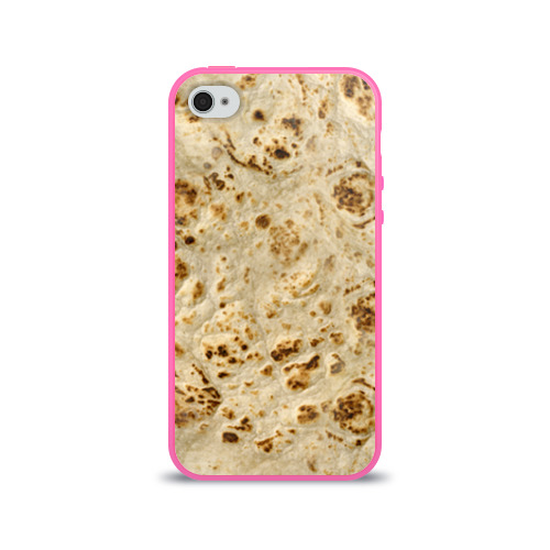 Чехол для Apple iPhone 4/4S силиконовый глянцевый Лаваш Фото 01