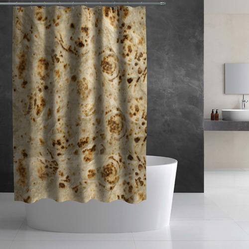 Штора 3D для ванной Лаваш Фото 01