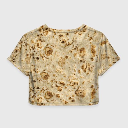 Женская футболка Crop-top 3D Лаваш Фото 01