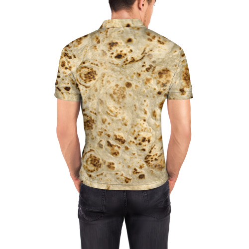 Мужская рубашка поло 3D Лаваш Фото 01