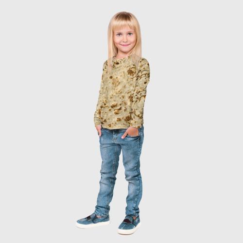 Детский лонгслив 3D Лаваш Фото 01