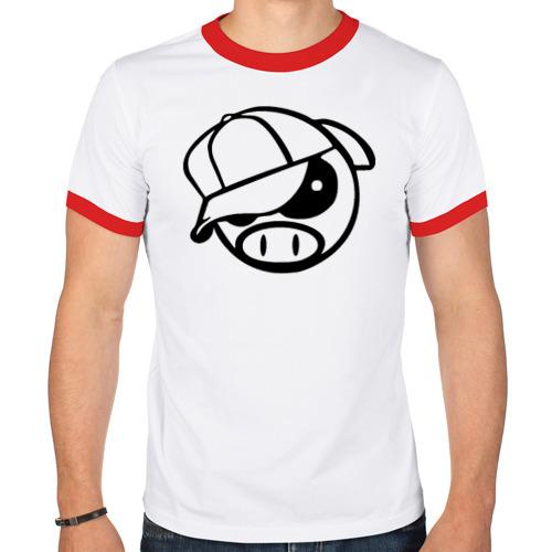 Мужская футболка рингер  Фото 01, SUBARY PIG