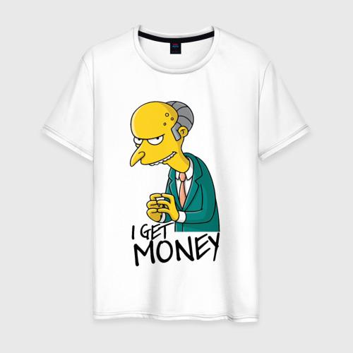 Мужская футболка хлопок Mr Burns get money