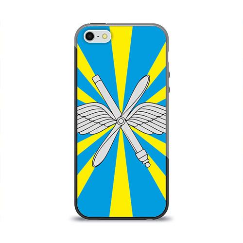 Чехол для Apple iPhone 5/5S силиконовый глянцевый Флаг ВВС от Всемайки