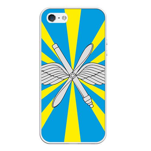 Чехол для Apple iPhone 5/5S силиконовый Флаг ВВС от Всемайки