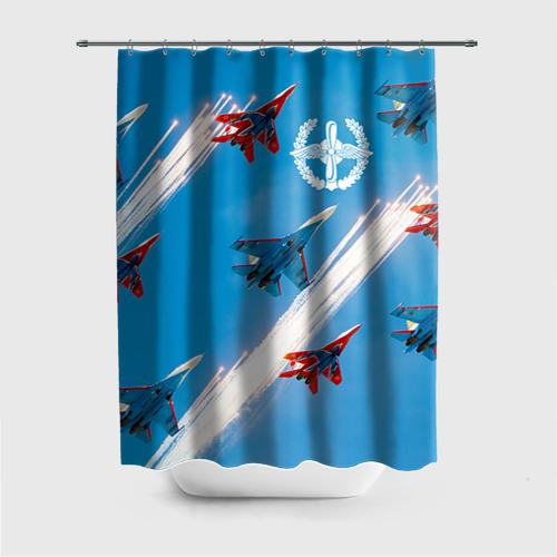 Штора 3D для ванной  Фото 01, Самолеты
