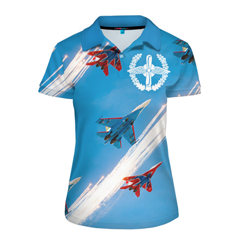 Женская рубашка поло 3D Самолеты