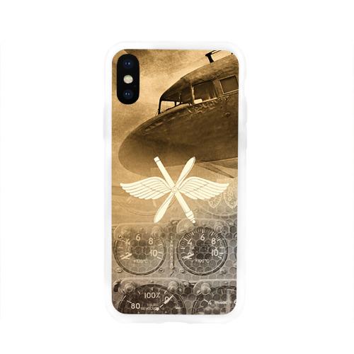 Чехол для Apple iPhone X силиконовый глянцевый  Фото 01, Авиация